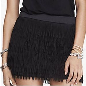 Express Chiffon Fringe Mini Skirt Sz 8